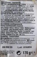 Bio - Hoummous - Voedingswaarden - fr