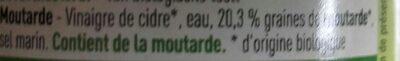 Moutarde - Inhaltsstoffe - fr