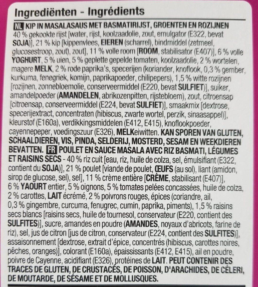 Poulet tikka masala - Ingrédients
