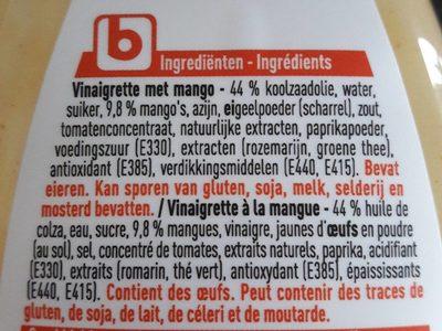 Vinaigrette à la mangue - Ingrédients