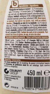 Miel Moutarde - Ingrediënten - fr