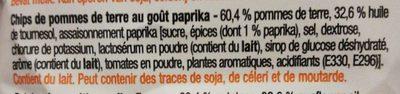 chips paprika - Ingrediënten - fr