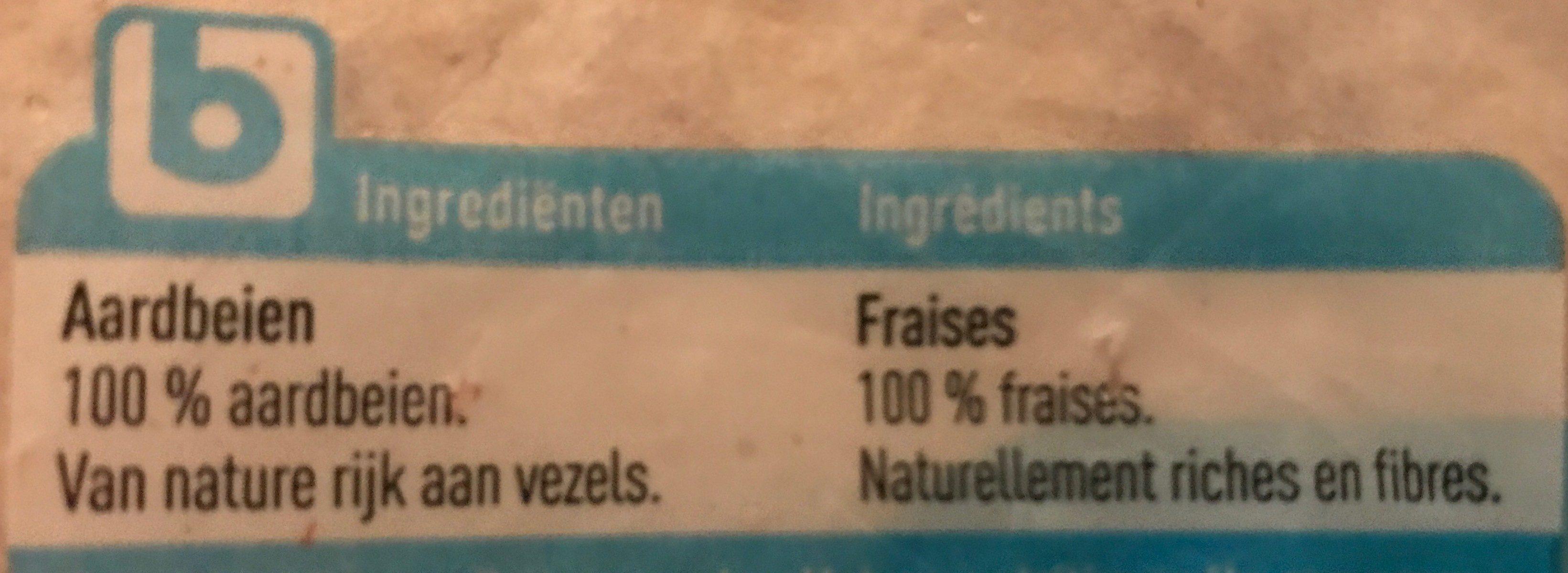 Fraises surgelées - Ingrediënten