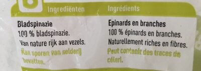 Épinards en branches - Ingrediënten