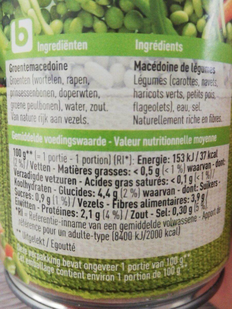 Macédoine de légumes BONI - Ingredients - fr