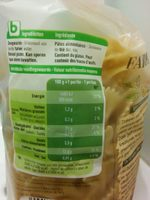 Farfalle - Informations nutritionnelles