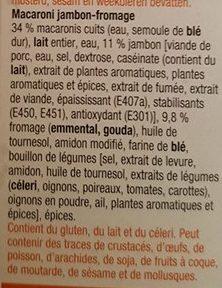 Macaroni Jambon-Fromage - Ingrediënten - fr