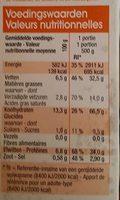 Macaroni Jambon-Fromage - Voedingswaarden - fr