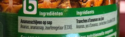 Ananas au jus - Ingrédients