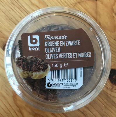Tapenade olives vertes et noires - Produit