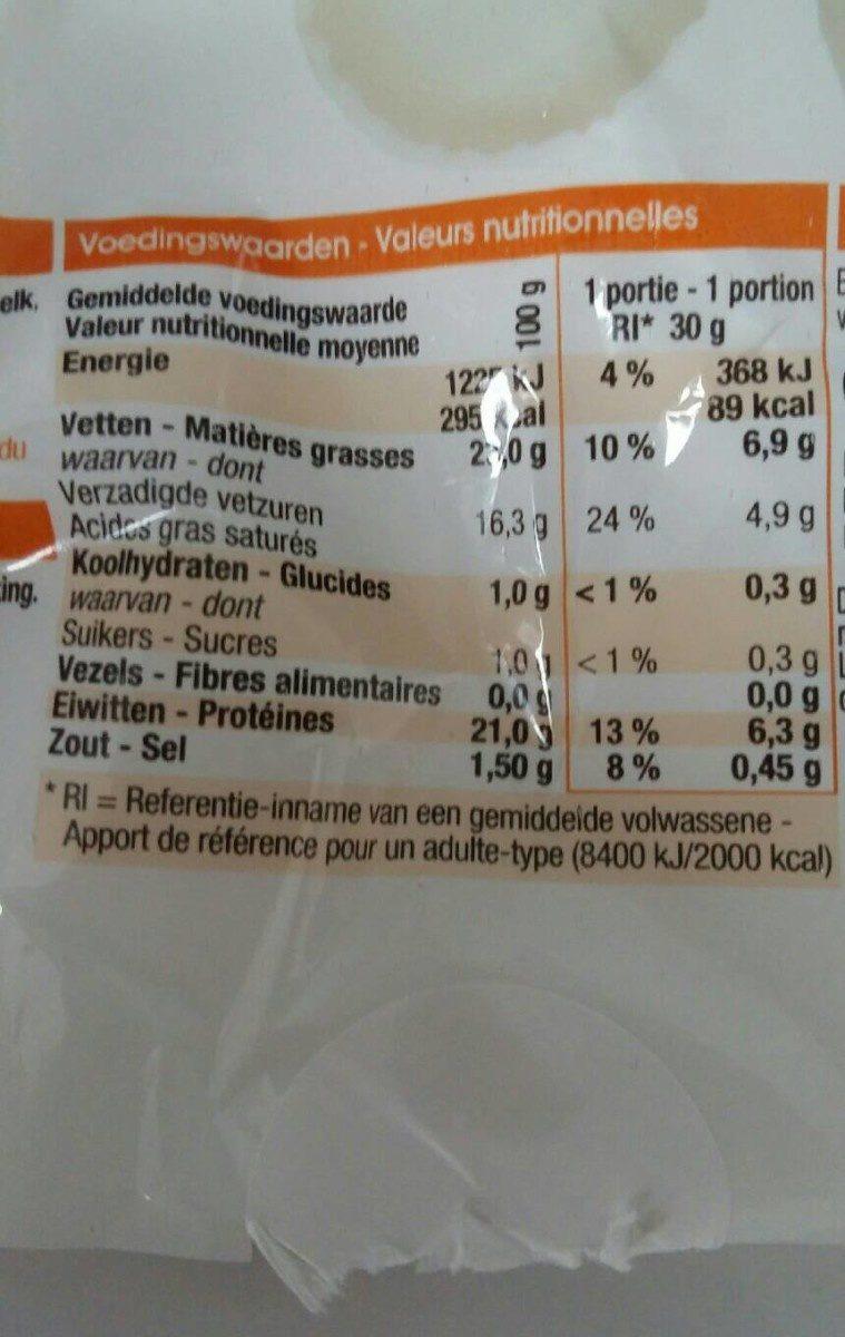 Fromage De Chevre - Voedigswaarden