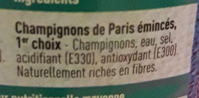 Parijse Champignons de Paris (schijfjes) - Ingrédients