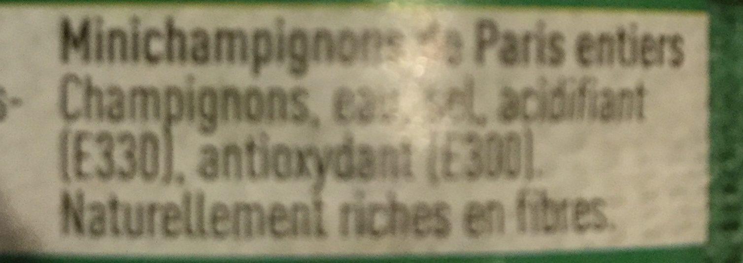 Minichampignons de Paris - Ingrediënten