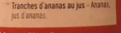 Ananas - Ingrediënten