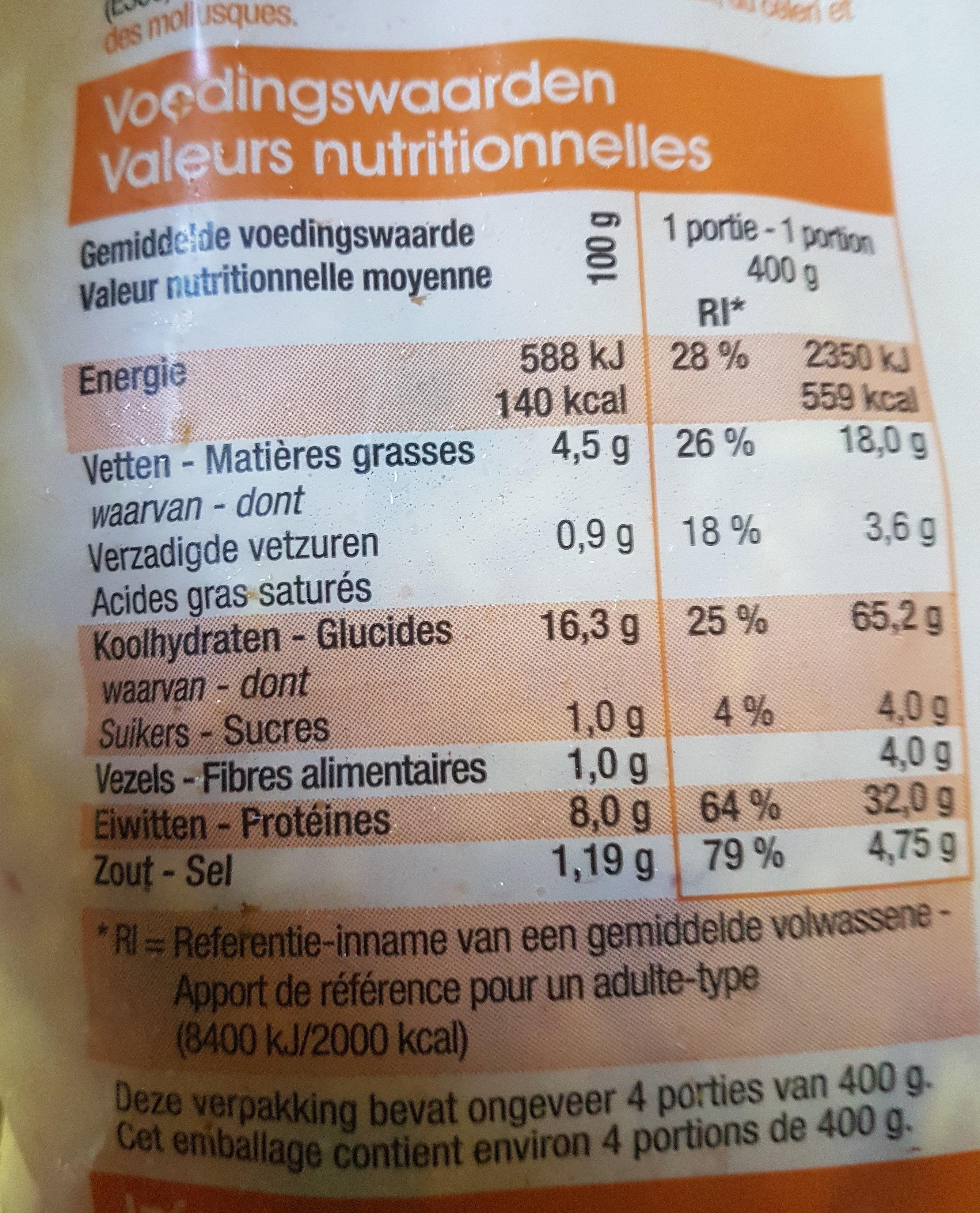 Paella royale - Voedingswaarden