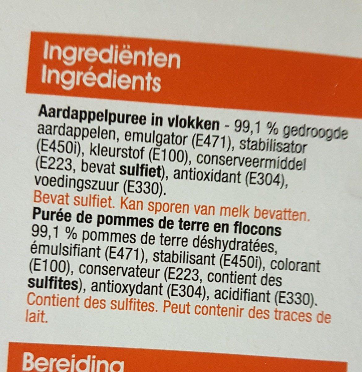 Purée de pommes de terre - Ingredients - fr
