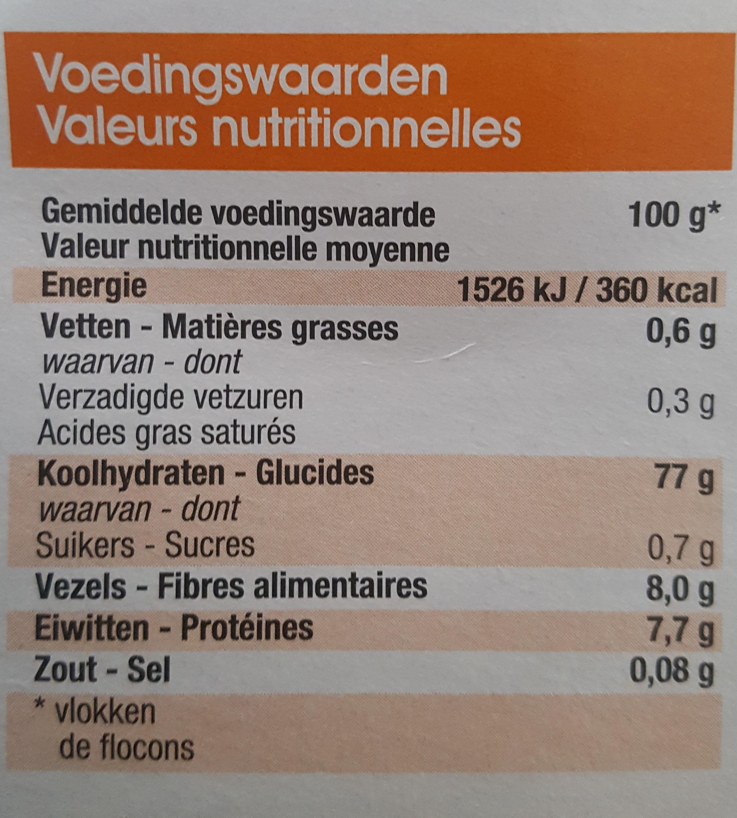 Purée de pommes de terre - Nutrition facts - fr