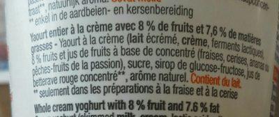Yaourt à la crème - Ingrediënten - fr
