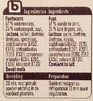Boni Fuet en Tranches - Ingredients - en