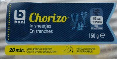 Chorizo en tranches - Product