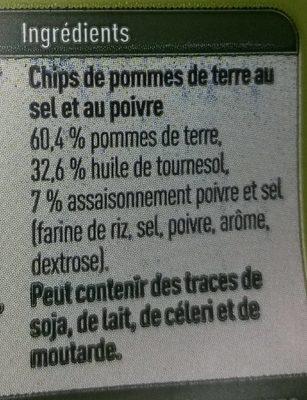 Ribble chips salt & pepper - Ingrediënten - fr