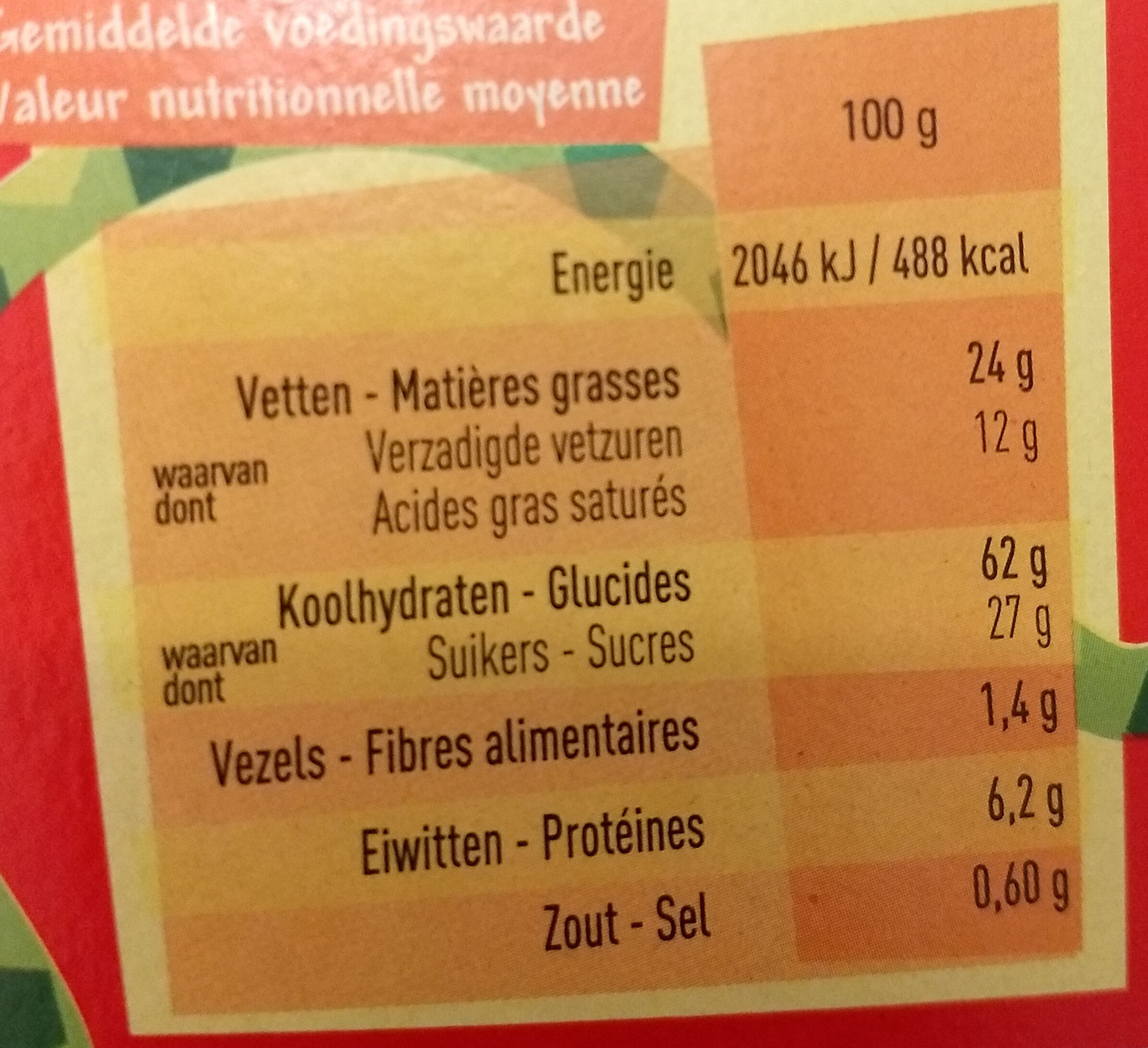 Chocotini - Informations nutritionnelles