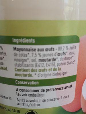 Mayonnaise - Ingrediënten - fr