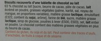 Biscuits chocolat au lait - Ingredients