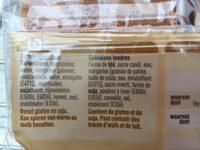 Speculoos tendres - Ingrediënten