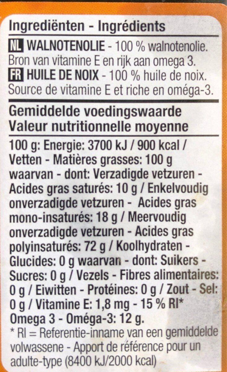 Huile de noix - Ingrediënten