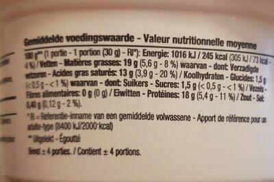 Mini mozzarella - Voedingswaarden
