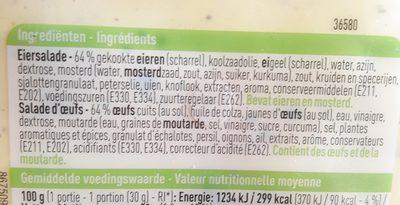 Salade d'œufs - Ingrediënten