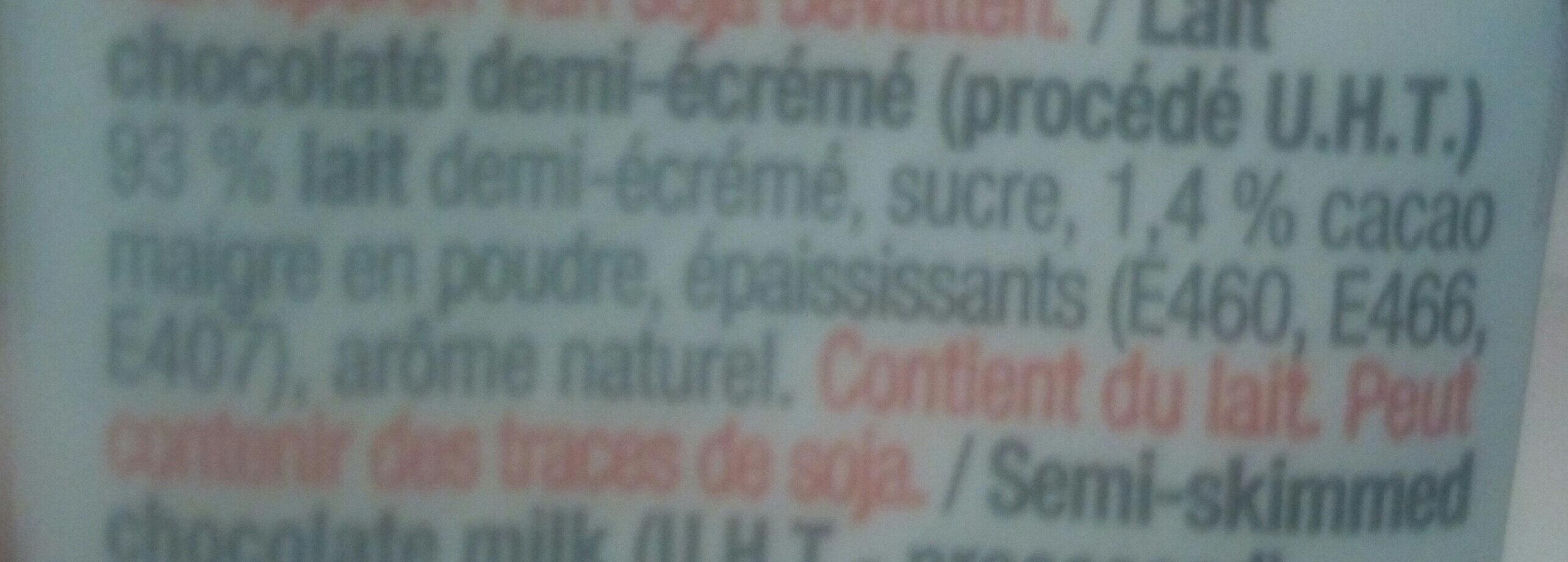 Chocomelk - Ingrediënten