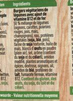 Burgers de legumes - Ingrediënten