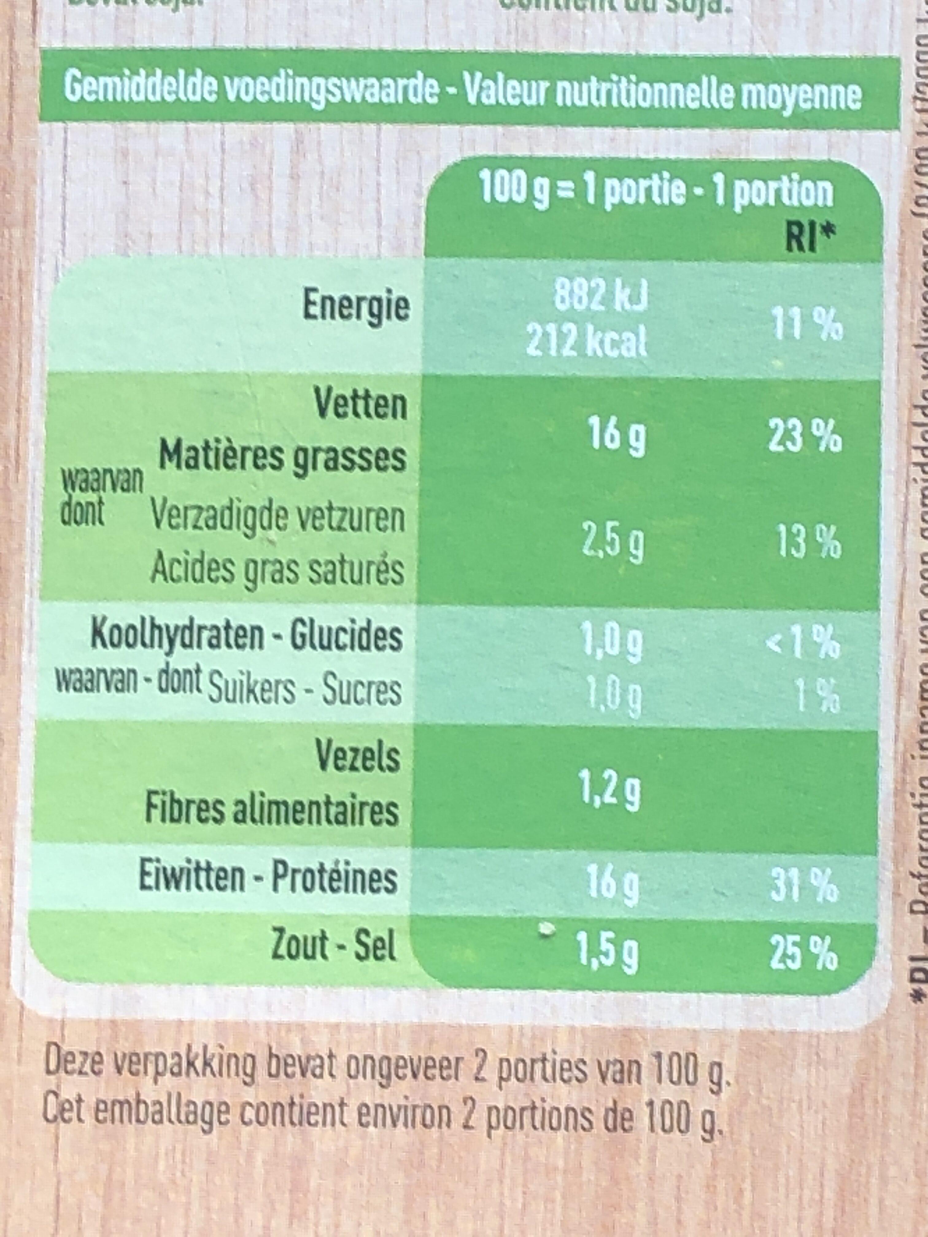 Lanières de tofu - Voedingswaarden