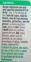 Burgers aux noix - Ingrediënten