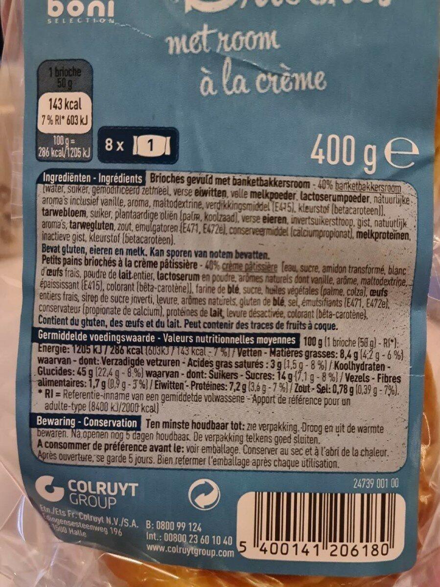 Brioche à la crème - Voedingswaarden - fr