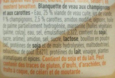 Blanquette de veau - Ingrediënten - fr