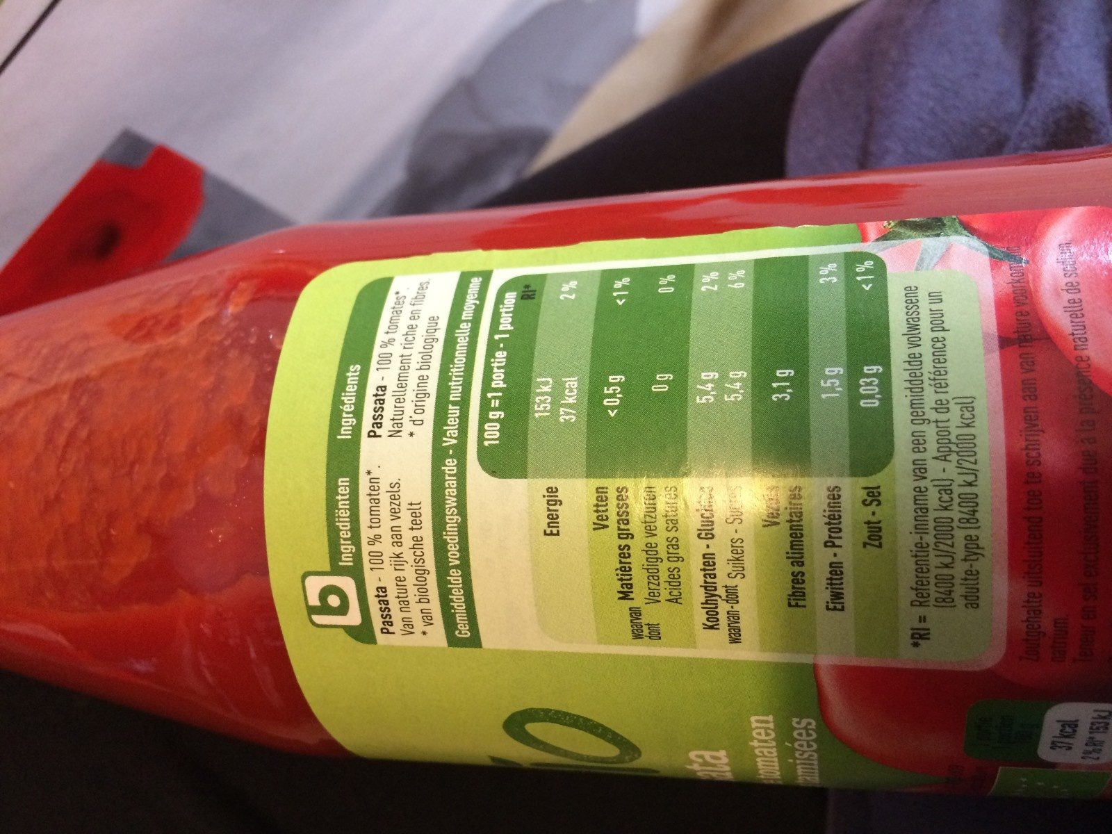 Passata bio - Ingrediënten - fr
