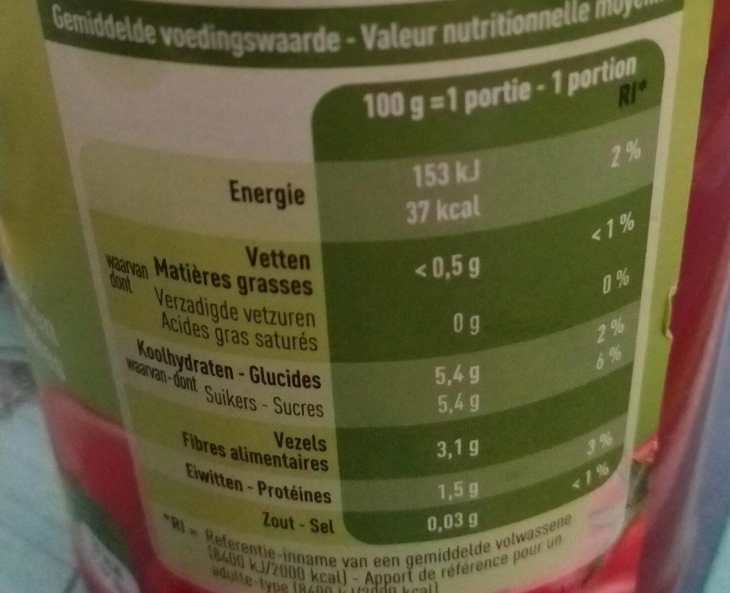Passata bio - Voedingswaarden - fr