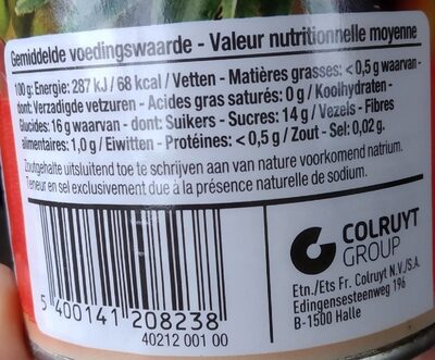 Cocktail de fruits au sirop léger - Nutrition facts