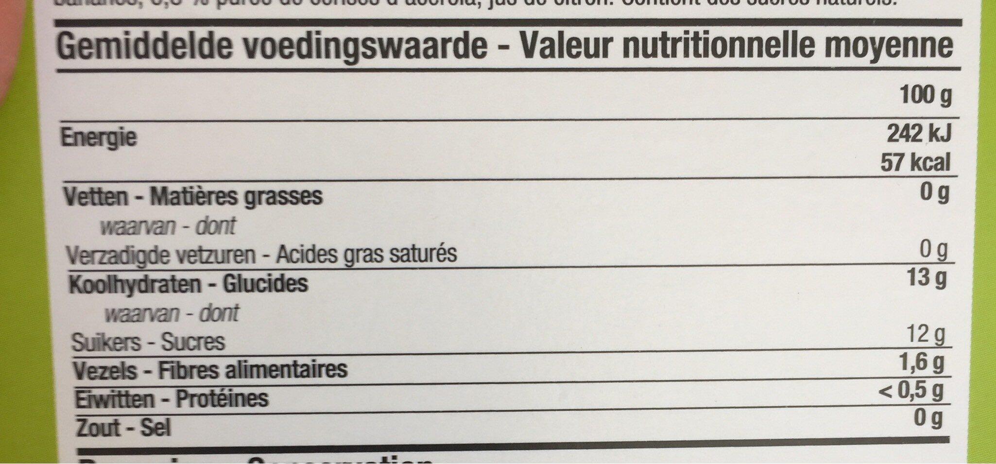 Pomini - Voedingswaarden - nl