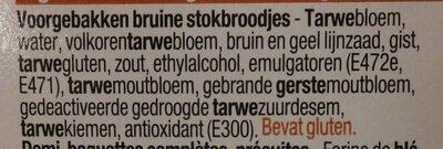Demi-baguettes complètes - Ingrediënten