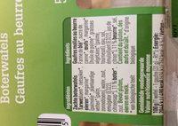 Gaufres au beurre - Bio - Ingrediënten