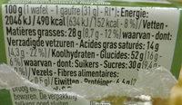 Gaufres au beurre - Bio - Voedingswaarden