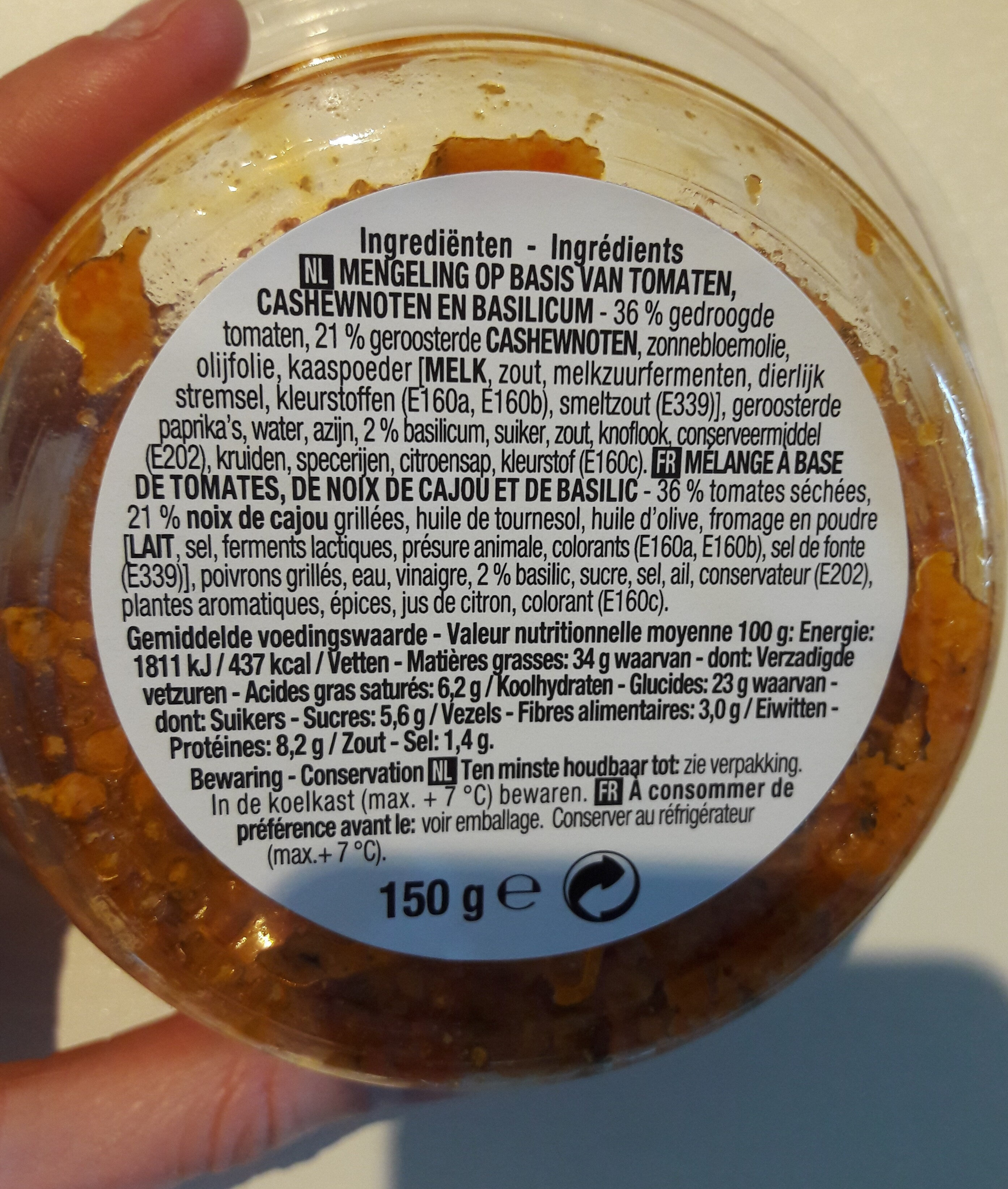 Dip & mix Chunky - Nutrition facts