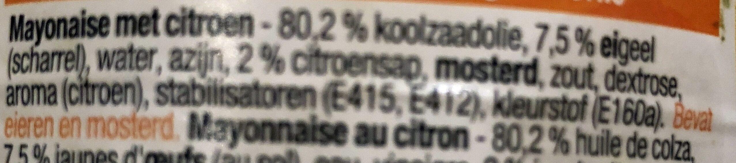 Mayonnaise - Ingrediënten - nl