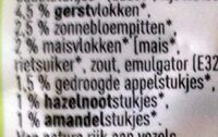 Bio muesli - Ingrediënten - nl