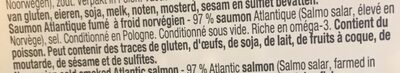 Saumon Atlantique fume - Ingrediënten - fr
