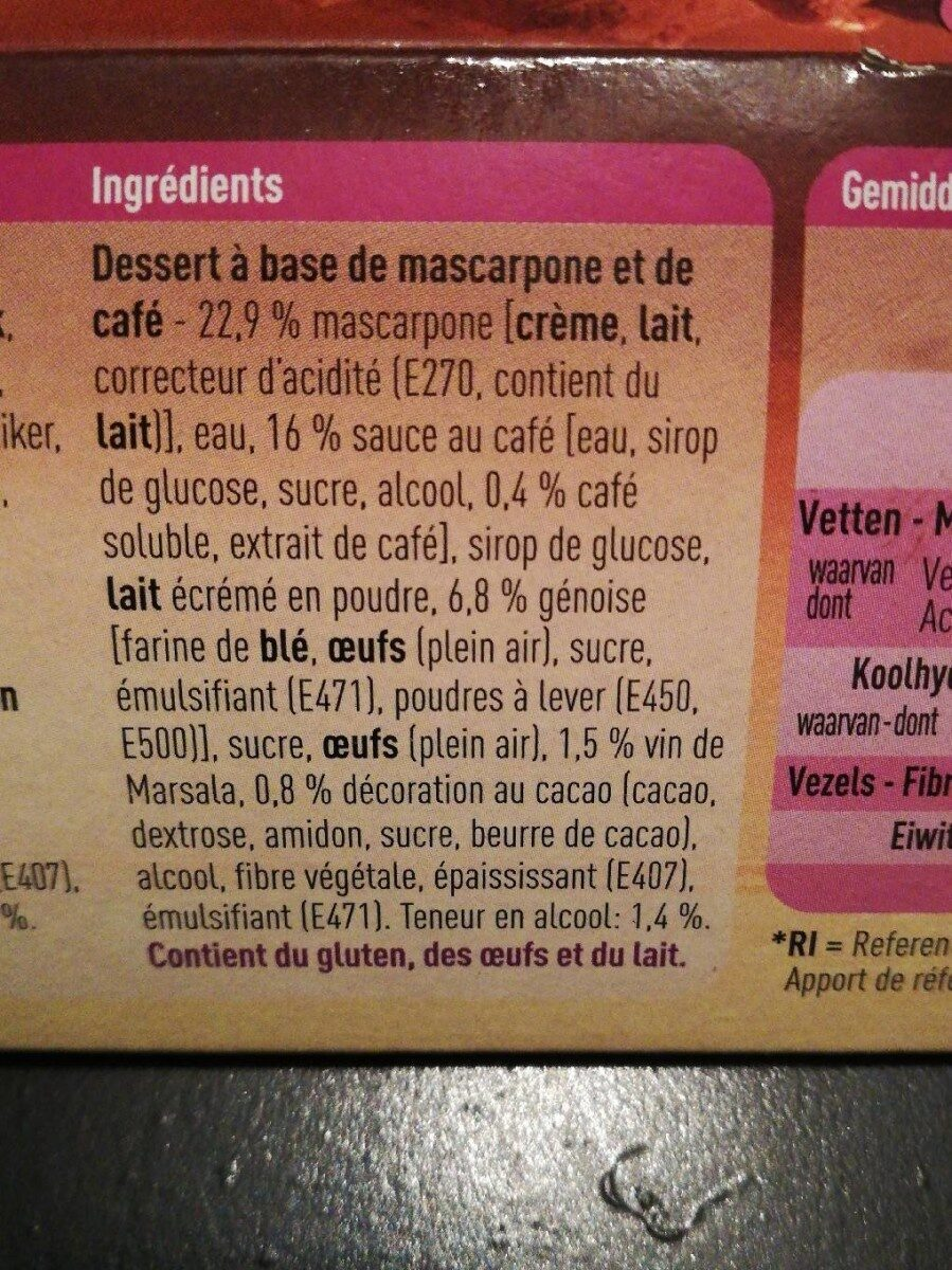 Tiramisu - Ingredients - en